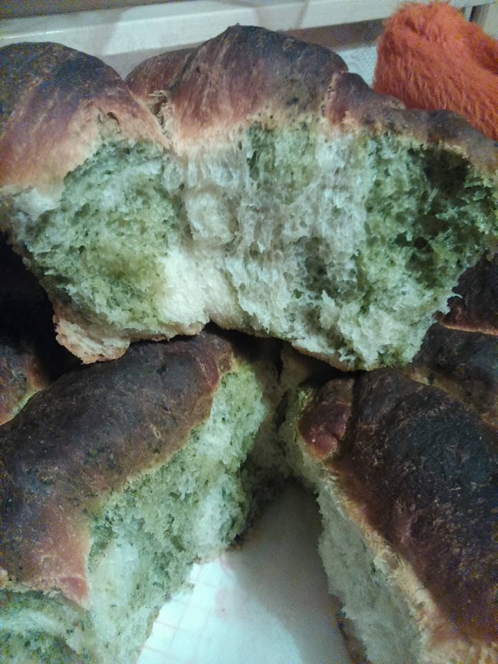 Surprisingly good spinach bread!
